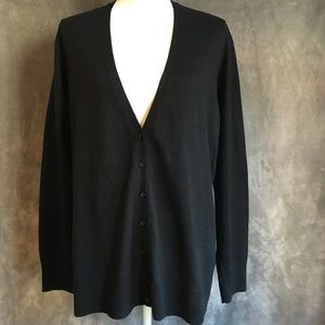 Old Navy Black Long Cardigan Sweater XXL